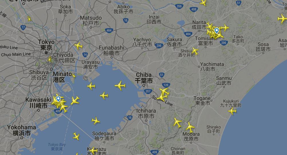 関東の飛行情報