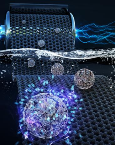 多孔性金属酸化物ナノ粒子電極の水路イオン保存特性