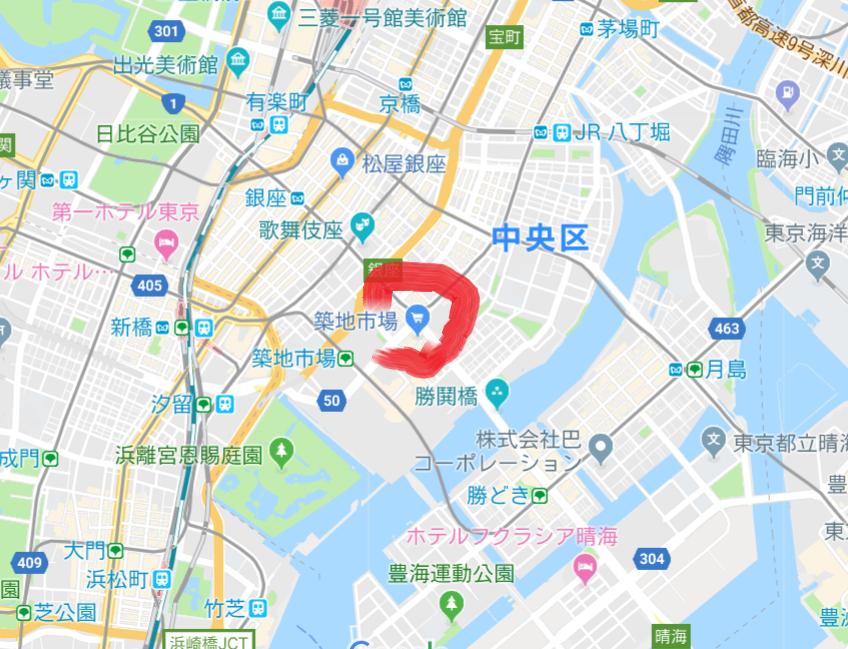 築地市場地図