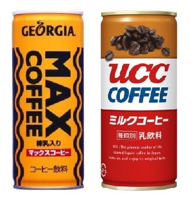 MAXコーヒーとUCCミルクコーヒーはどっちが甘いのか