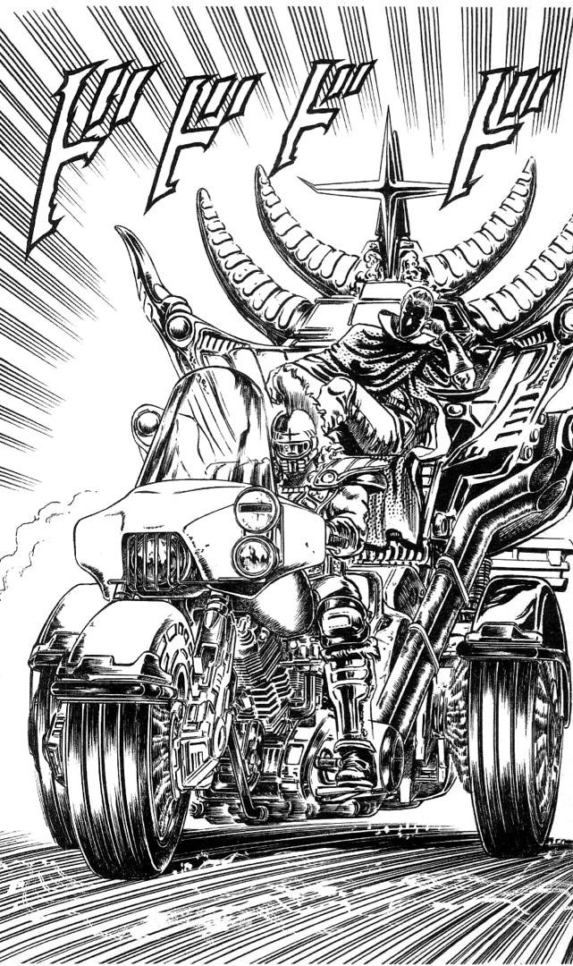 北斗の拳のサウザー登場シーンでサウザーが乗っているバイクは何なのか?公道は走れるのか?