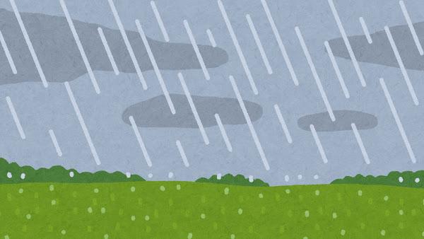 1回の雨で一体どれくらいの量の水が地上に降っているのか