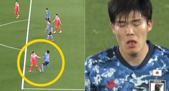 【サッカー日韓親善試合】韓国選手がこっそり日本人選手を殴るシーンが韓国でも批判に